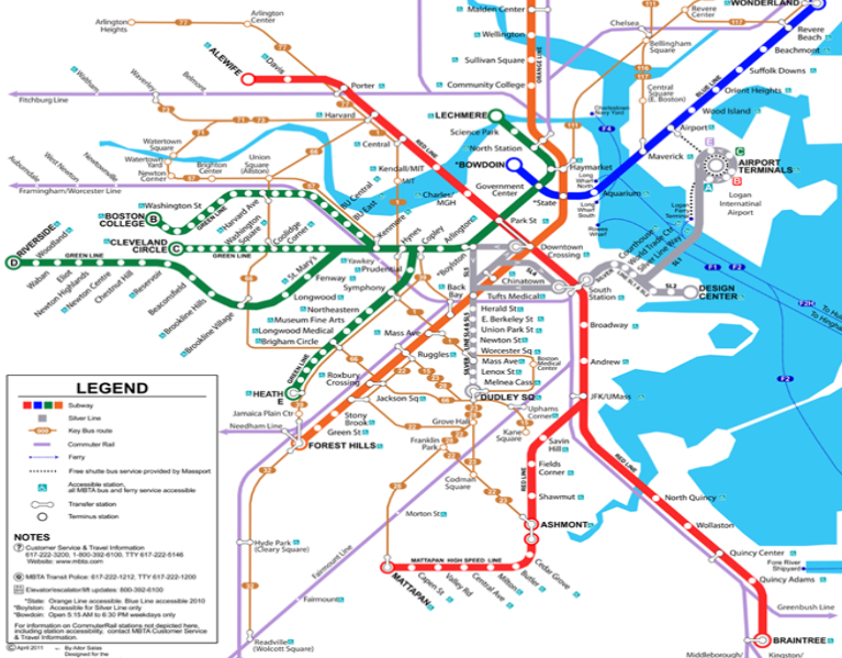 Interactive Boston Subway Map.Transit Resources Masco