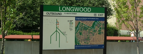 Longwood T station map